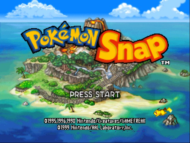Pokemon Snap - Introduction  - Title Screen - User Screenshot